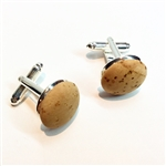 Cork Cuff Links Natural