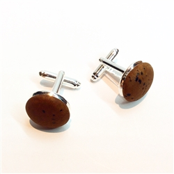 Cork Cuff Links Brown