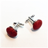 Cork Cuff Links Red