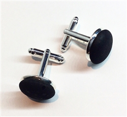 Cork Cuff Links Black