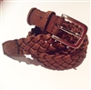 Cork Plaited Belt Brown
