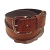 Cork Belt wide men's large buckle
