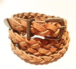 Cork Plait belt thin natural