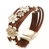 Cork Bracelet with flowers