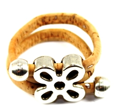 Cork ring with flower