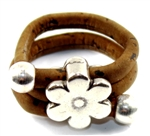 Cork Ring Flower Brown