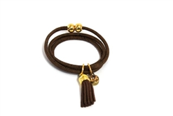 Fringe Cork Brown Bracelet