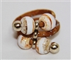 Cork Ring White Ceramic Beads