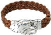 Cork Bracelet with belt buckle Brown