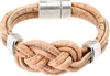 Natural Cork Knot Bracelet with two metalic rings