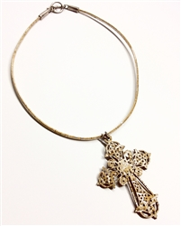 Cork Necklace Silver Cross