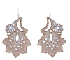 Cork White Lace Floral Earring