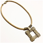 Cork Necklace Bronze Lattice