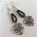 Cork Earrings Rose Brown
