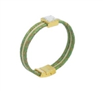 Cork Bracelet Green w/Diamonte