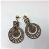 Cork Earring Aztec Circle