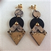 Cork Earrings Triangles/Circles