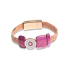Cork bracelet copper trim