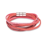Cork wrap bracelet red