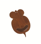Brown Mouse Shaped Mouse Pad