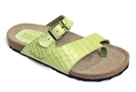 green cork sandal