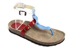 three colours cork sandal