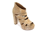 Silver fancy cork heels