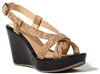 Wedges Black Lacquered Cork with Piton straps