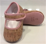 Baby Sandal Natural Cork/Pink detail