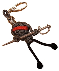 The Dark Knight Paracord Man Keychain