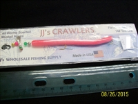"JJ's Crawlers 4"" Bubblegum Rigged Worm"