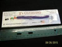 "JJ's Crawlers 4"" Grape Rigged Worm"