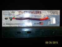 "JJ's Crawlers 4"" Purple Fire Tail Rigged Worm"