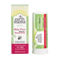 Earth Mama Baby Face Mineral Sunscreen Face Stick SPF 40