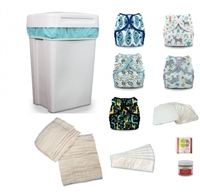 Cloth Diaper Bundle- Classic Prefold Style (wash every 2 days)