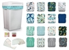 Cloth Diaper Home Wash Bundle - All in One and Pocket Style (wash every 2 days)