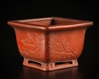 Bigei ,Tokoname bonsai pot-Artist Mr. Hirata Atsumi ( Collectors Edition )