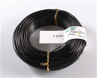 2 MM ANODIZED BLACK BROWN ALUMINIUM WIRE