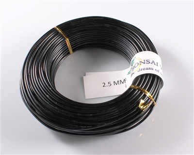 2.5 MM ANODIZED BLACK BROWN ALUMINIUM WIRE