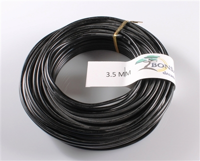 3.5 MM ANODIZED BLACK BROWN ALUMINIUM WIRE
