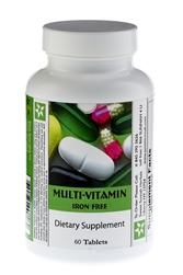 Multi Vitamin Iron Free- 60 Tablets