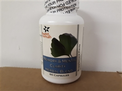Memory & Mental Clarity Herbal Blend 60 Capsules