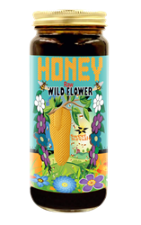 Raw Wild Flower Honey - 16 oz.