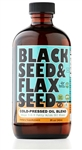 Black Seed & Flax Seed Cold Pressed Oil Blend - 8 oz. (Glass)