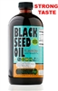 Pure Cold Pressed Black Seed Oil STRONG TASTE 16 oz glass bottle