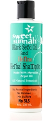 Black Seed Oil & Henna Herbal Shampoo w/ Moroccan Argan Oil - 8 oz