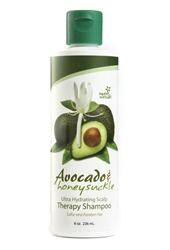 Natural Avocado Honeysuckle Shampoo - 8 oz
