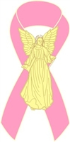 Angel Awareness Ribbon PIn - Pink