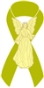 Angel Awareness Ribbon PIn - Lime Green