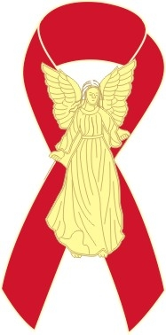 Angel Awareness Ribbon PIn - Red